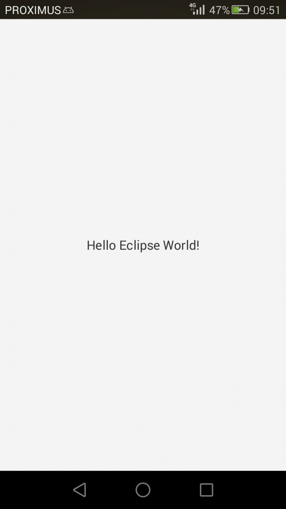 Eclipse project on Android