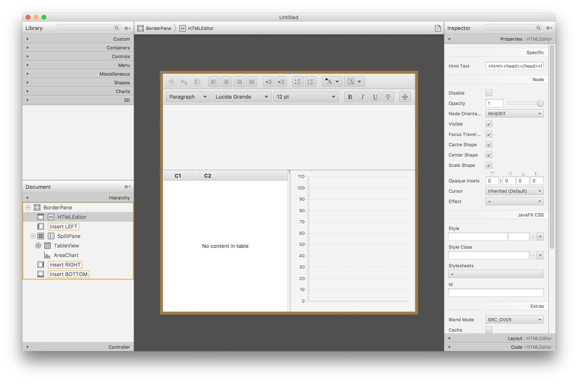 SceneBuilder screenshot